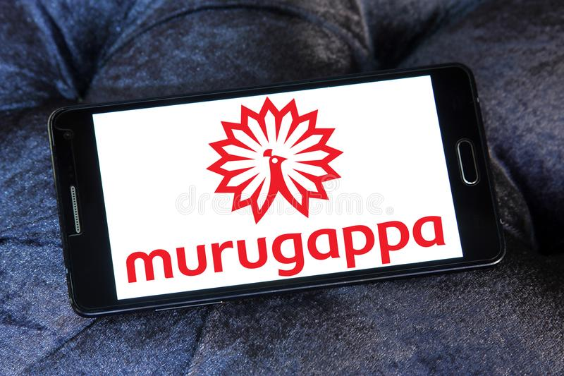 Murugappa Group logo. Logo of Murugappa Group on samsung mobile. Murugappa Groupis is an Indian business conglomerate. The group has 28 businesses in several royalty free stock images