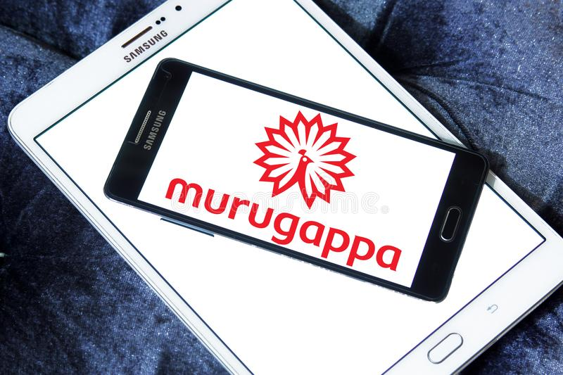 Murugappa Group logo. Logo of Murugappa Group on samsung mobile. Murugappa Groupis is an Indian business conglomerate. The group has 28 businesses in several stock image