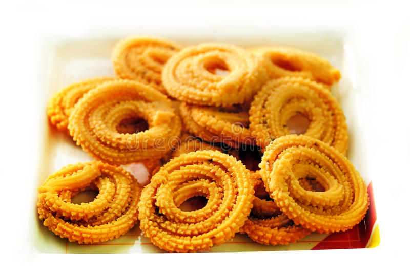 Muruku - popular south indian deep fried snack stock photo
