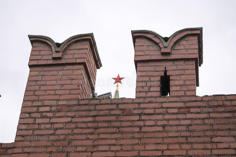 Murverk i Alexander Garden nära väggarna av MoskvaKreml royaltyfri bild
