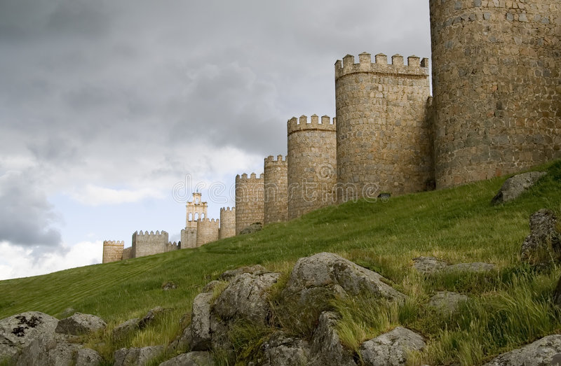 mury miasta avila obraz royalty free