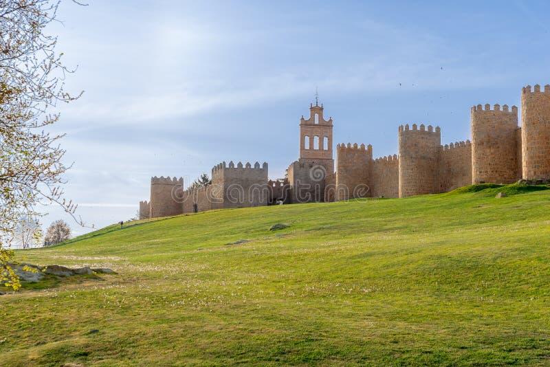 Mury starożytnego miasta Avila, Hiszpania zdjęcia stock