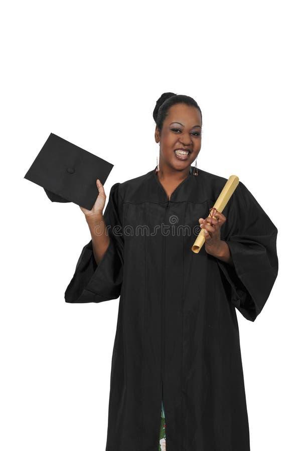 Murzynka absolwent obrazy stock