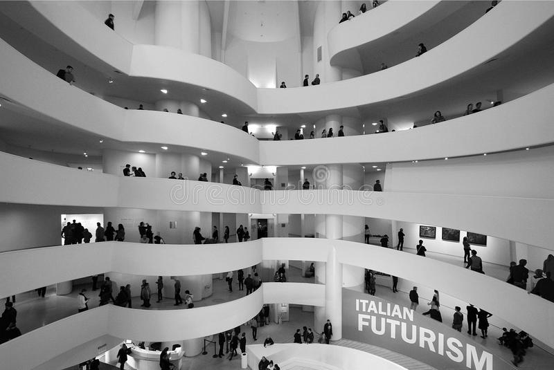 Musée Solomon r Guggenheim - Нью-Йорк стоковые фотографии rf