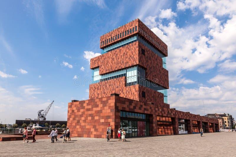 Musée à la rivière - MAS - à Anvers, Belgique photo libre de droits
