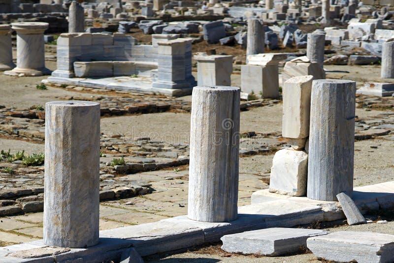 Musée archéologique de Delos en île de Cyclades photographie stock