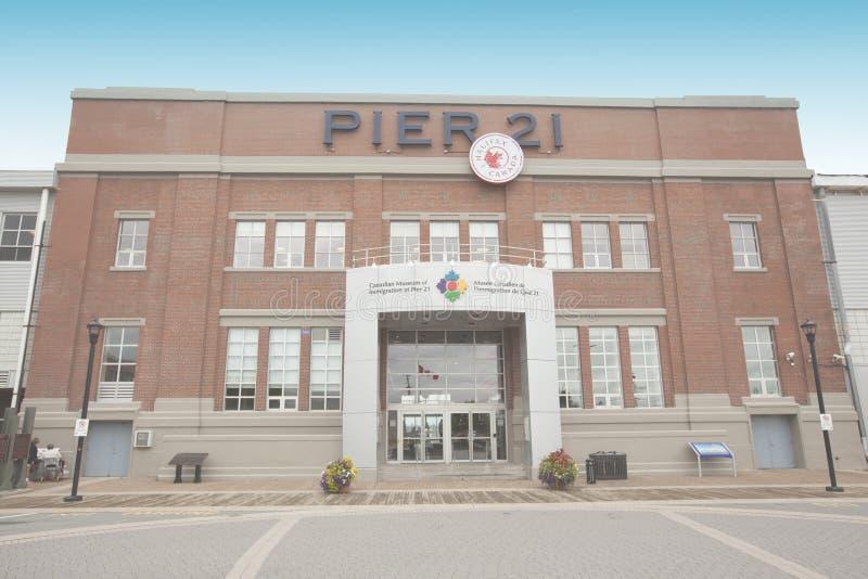 Musée canadien de l'immigration au pilier 21 Halifax image stock