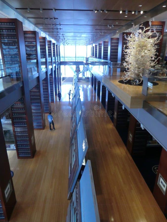 Musée chez Clinton Presidential Center à Little Rock du centre image libre de droits