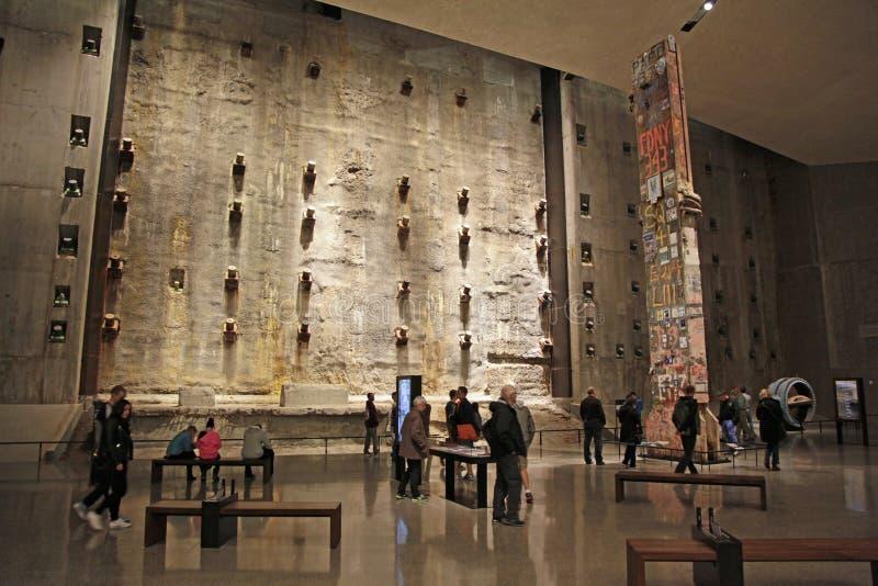 9/11 musée commémoratif, base Hall à point zéro, WTC photo stock