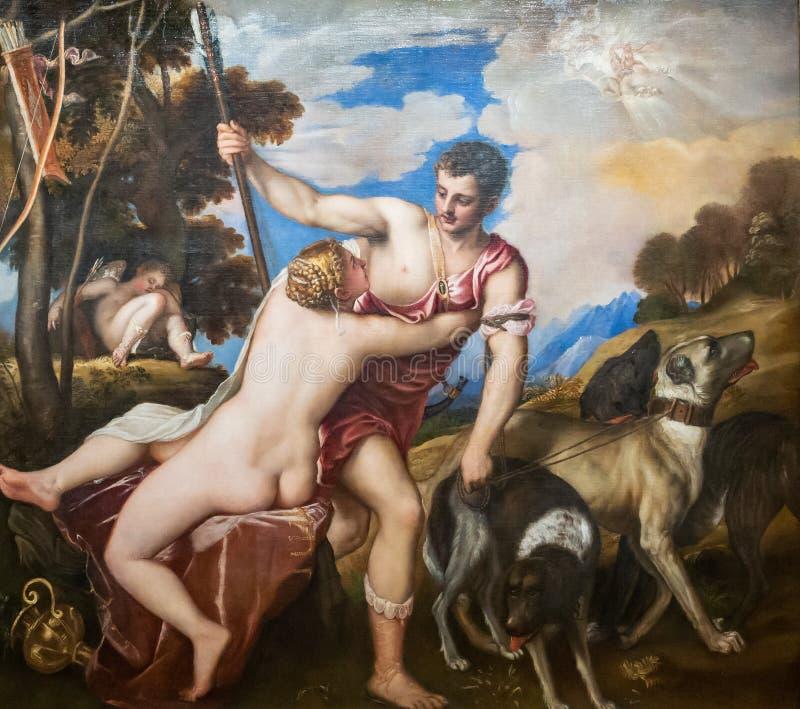 Musée d'état des beaux-arts baptisés du nom COMME de Pushkin - Tiziano Vecell images stock