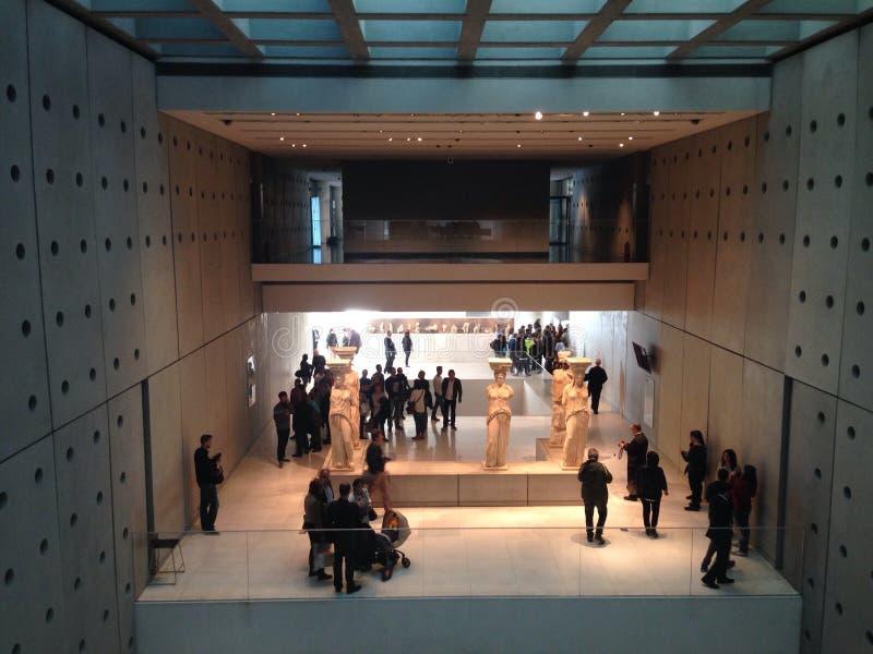 Musée d'Acropole dans la vue de côté droit d'Athènes? photos libres de droits