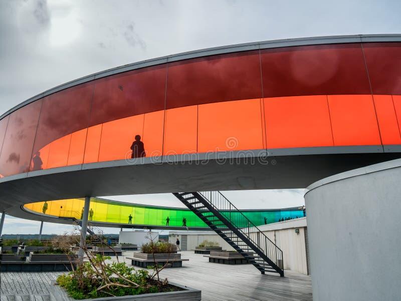 Musée d'Art contemporain Aarhus, Danemark d'Aros photo stock