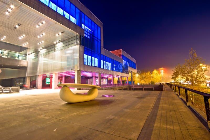 Musée d'art contemporain dans l'extérieur de Zagreb images libres de droits