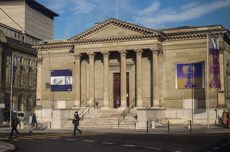 Musée d'Art de Musee Rath à Genève photo stock