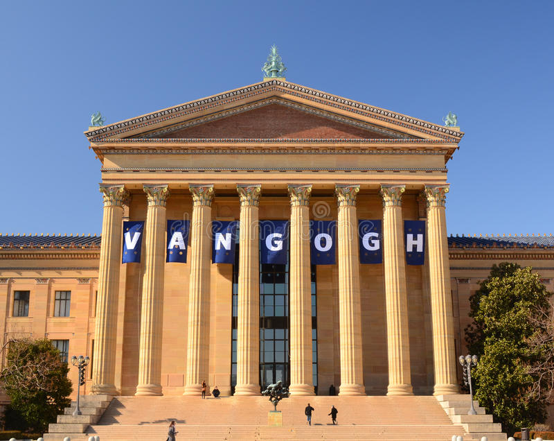 Musée d'Art de Philadelphie photo stock