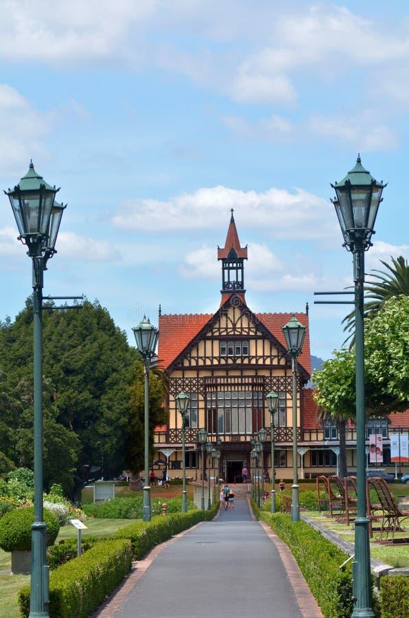 Musée d'Art de Rotorua et histoire - Nouvelle-Zélande photographie stock libre de droits