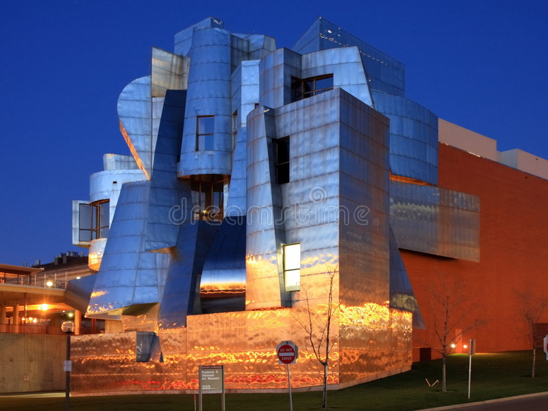 Musée d'Art de Weisman à Minneapolis photographie stock