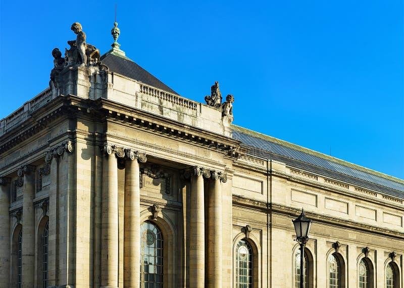 Musée d'Art et histoire au centre de la ville de Genève images libres de droits