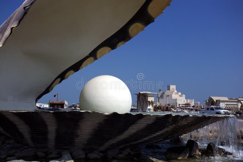 Musée d'art islamique vu derrière la fontaine d'huître photo libre de droits