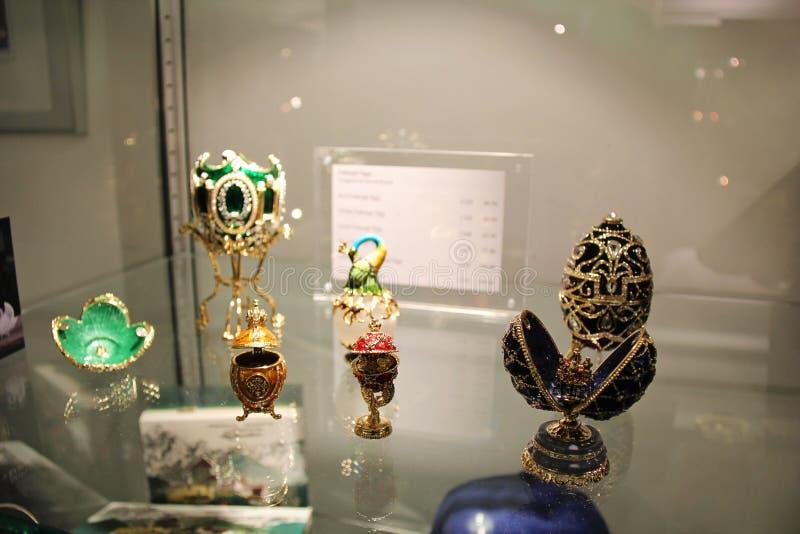 Musée d'oeufs de Faberge images stock