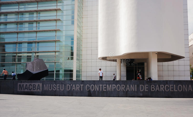 Musée de Barcelone d'art contemporain photo libre de droits