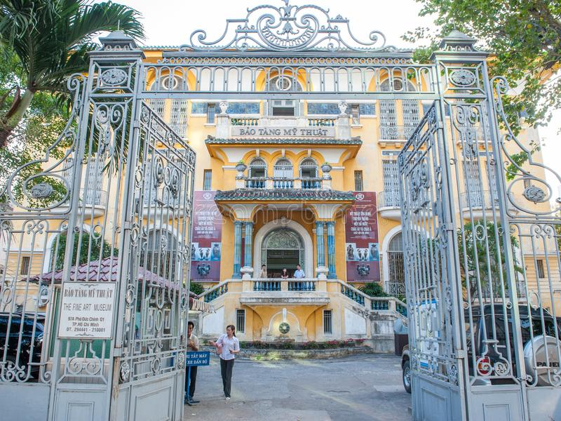 Musée de beaux-arts en Ho Chi Minh City photo libre de droits