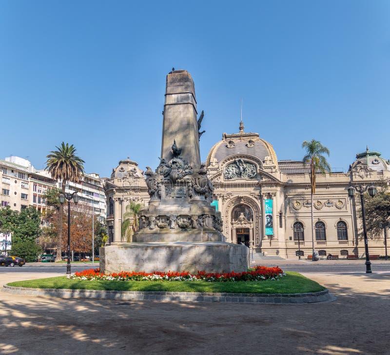Musée de beaux-arts Museo de Bellas Artes - Santiago, Chili images libres de droits