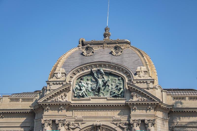 Musée de beaux-arts Museo de Bellas Artes - Santiago, Chili photographie stock