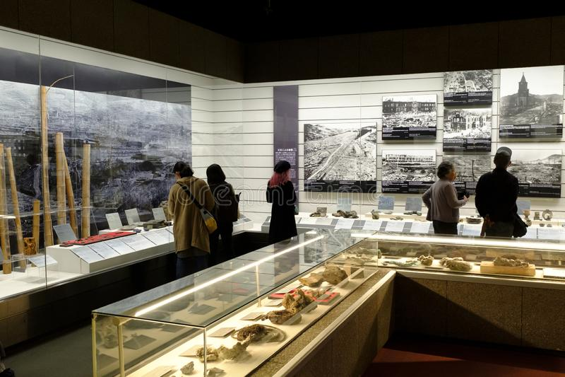 Musée de bombe atomique de Nagasaki photos libres de droits