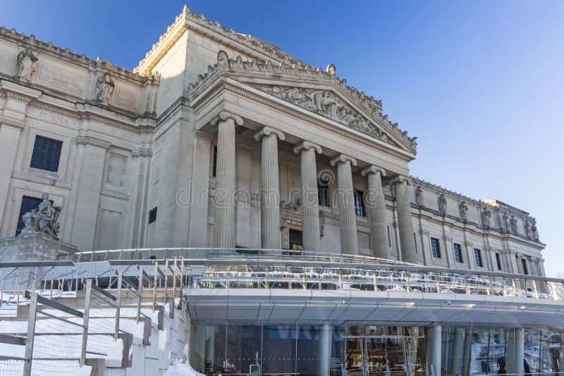 Musée de Brooklyn en hiver image stock