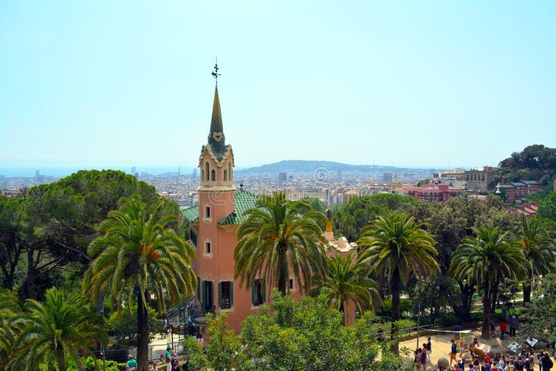 Musée de Chambre de Gaudi dans l'aune de ¼ du parc GÃ image stock