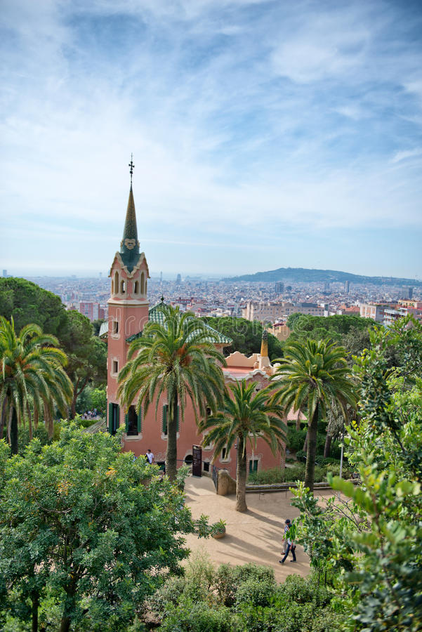 Musée de Chambre de Gaudi en parc Guell, Barcelone, Espagne photographie stock