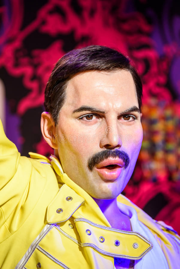 Musée de cire de Freddie Mercury Figurine At Madame Tussauds photo libre de droits