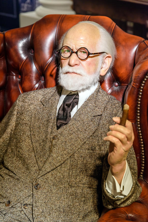 Musée de cire de Sigmund Freud Figurine At Madame Tussauds photos stock