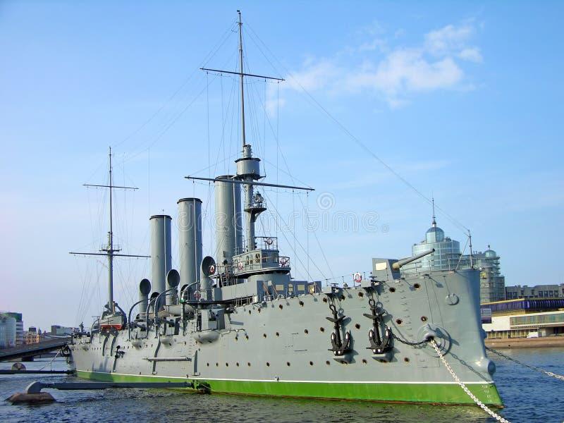 Musée de croiseur de l'aurore, St Petersburg images libres de droits