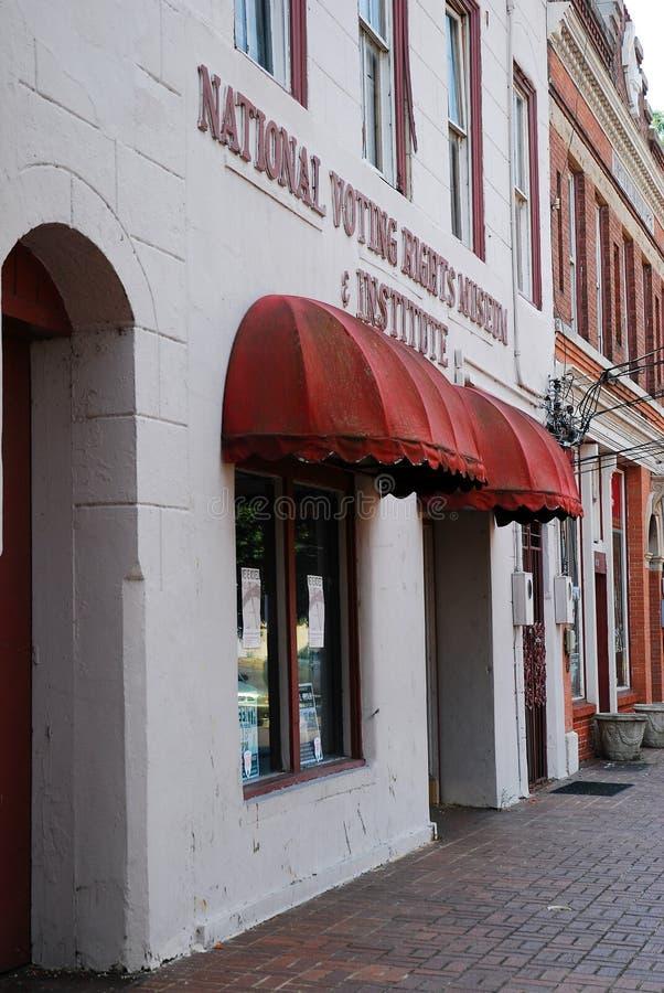 Musée de droit de vote, Selma Alabama image stock