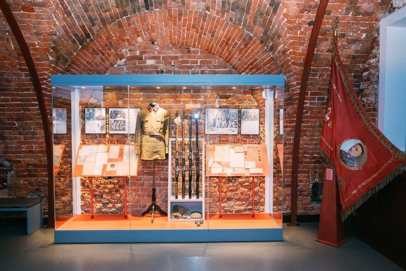 Musée de forteresse de Brest à Brest, Belarus images libres de droits