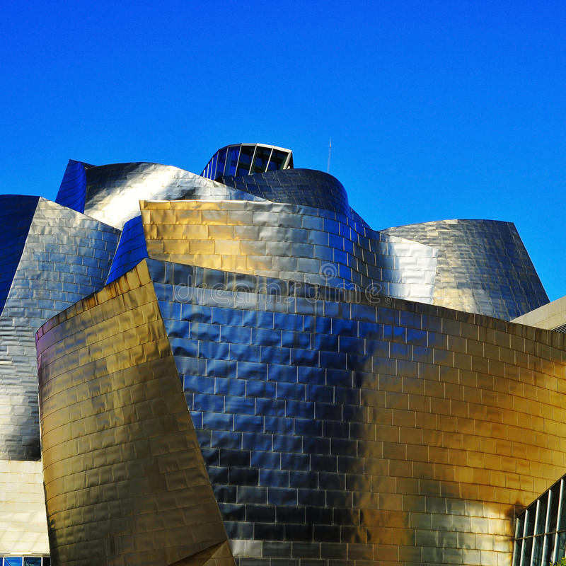 Musée de Guggenheim à Bilbao, Espagne photos libres de droits