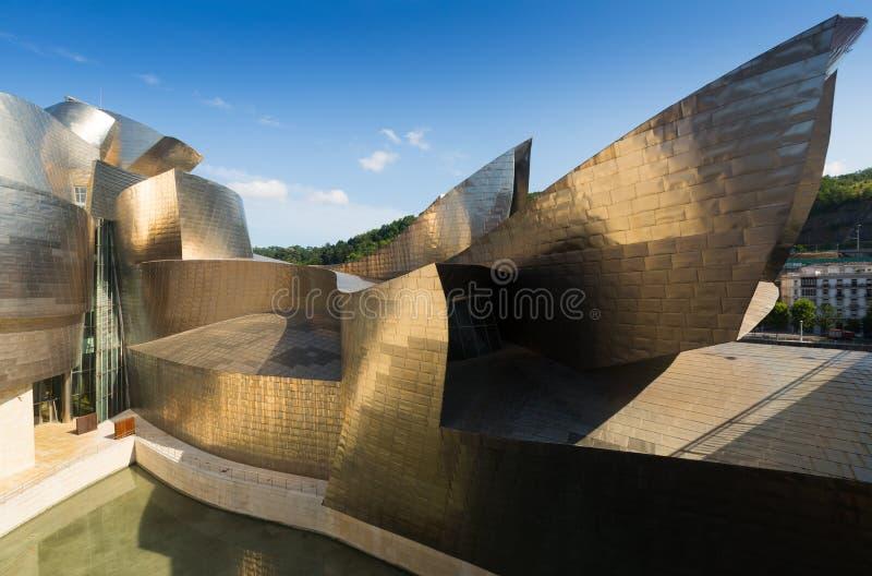 Musée de Guggenheim à Bilbao l'espagne images stock