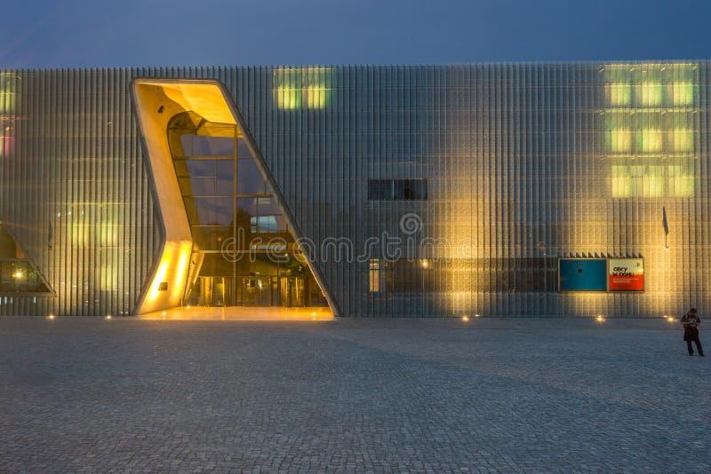 Musée de l'histoire des juifs polonais à Varsovie image libre de droits