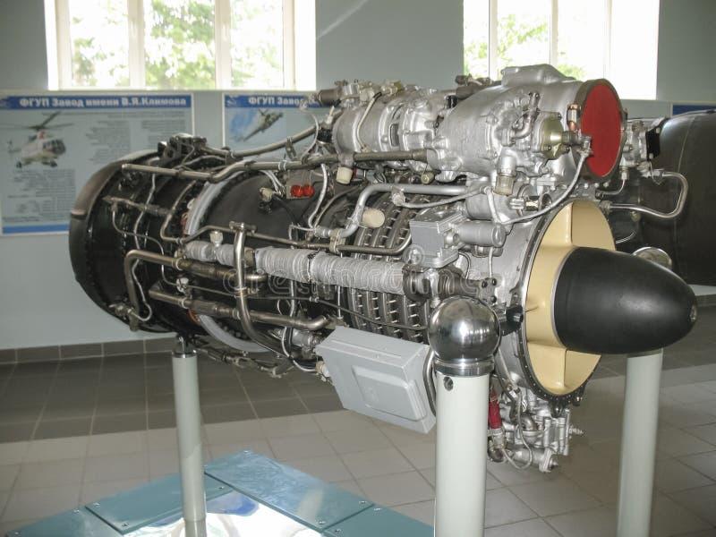 Musée de l'histoire du bâtiment de moteur d'avions Moteurs d'avions sur des supports Moteurs et moteurs à combustion interne de t images libres de droits