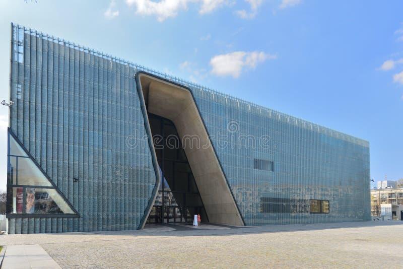 Musée de l'histoire polonaise de juifs à Varsovie photo libre de droits