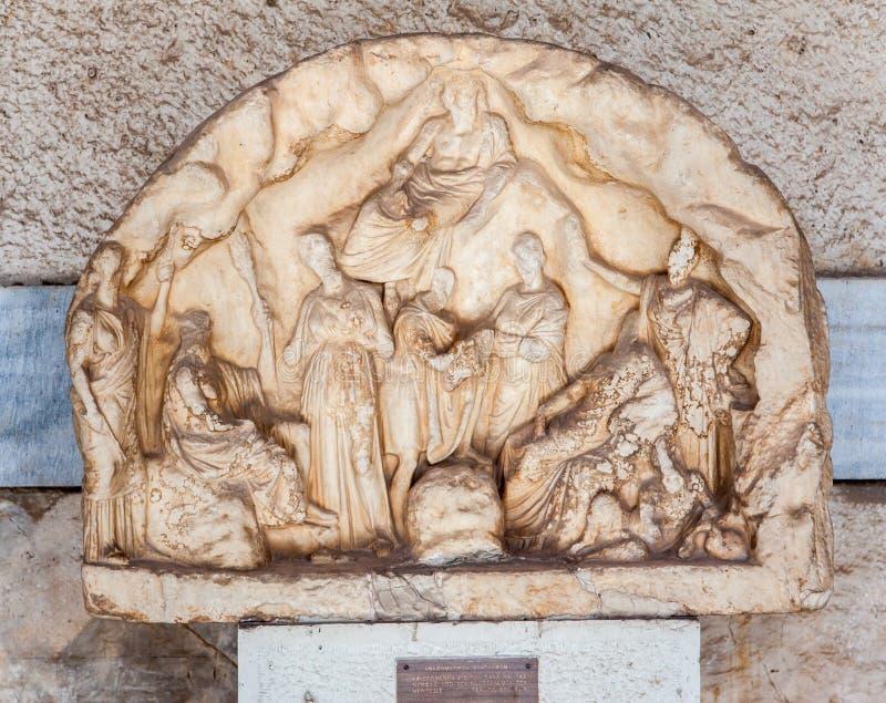 Musée De Marbre Athènes D Agora D Allégement De Bas Images libres de droits
