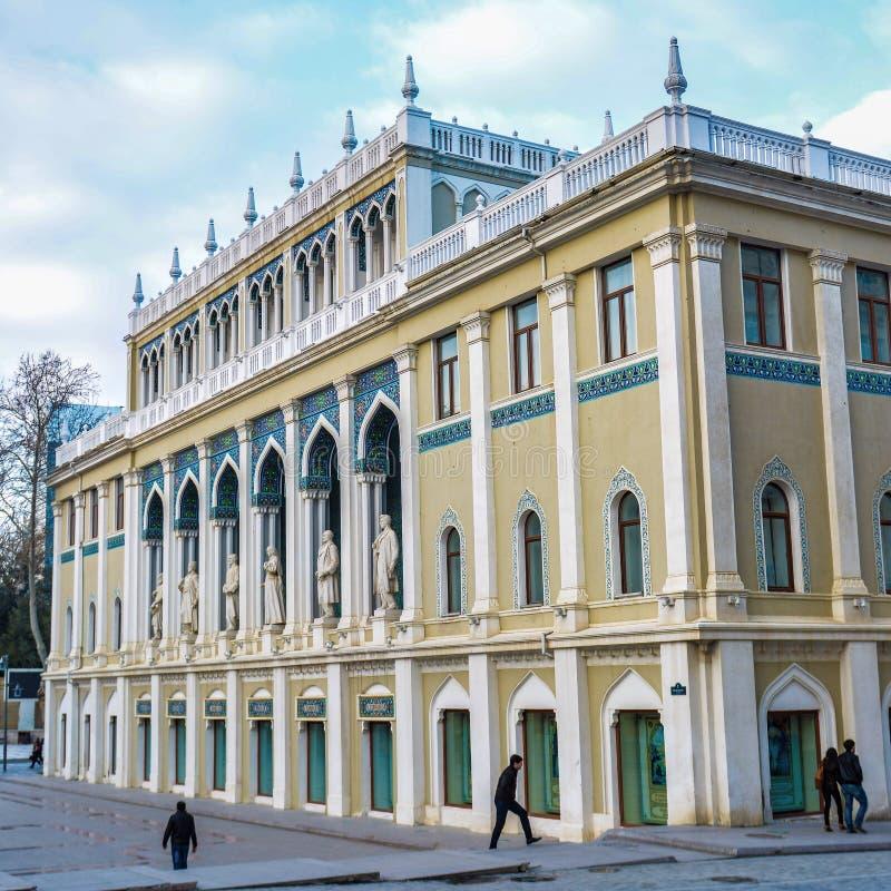 Musée de Nizami Gyandzhevi à Bakou, Azerbaïdjan photographie stock