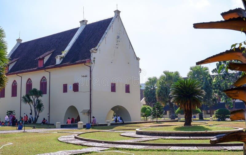 Musée de Rotterdam de fort dans la ville de Makassar, Sulawesi photos libres de droits