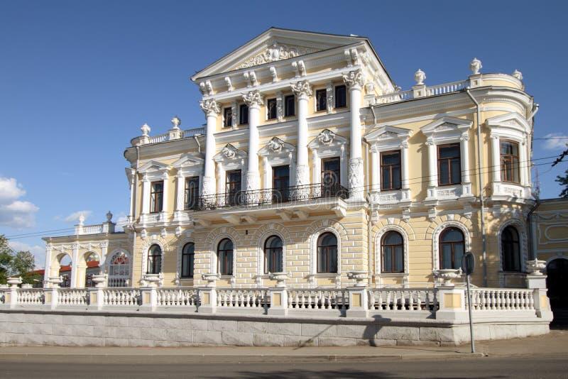 Musée de savoir local dans un bâtiment historique dans Perm. image libre de droits