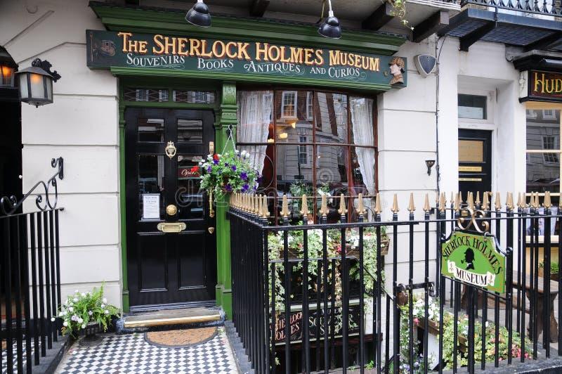 Musée de Sherlock Holmes - écran protecteur de panneau-réclame images stock
