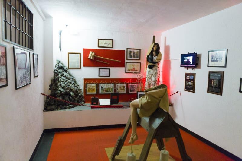 Musée de torture de ville de Naples image stock