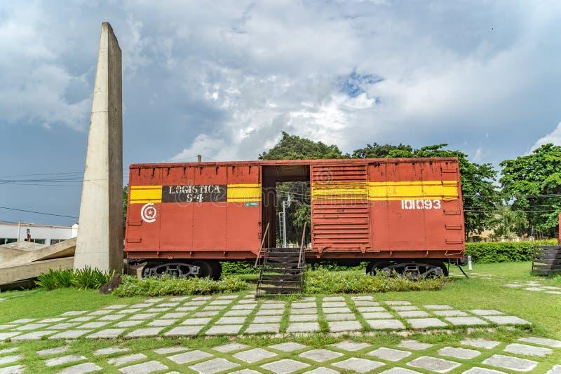 Musée de train blindé images stock