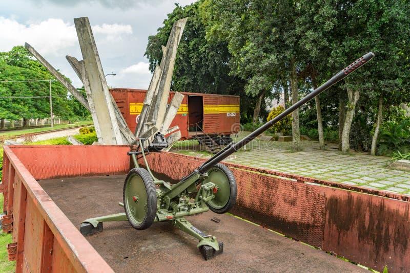 Musée de train blindé - arme à feu image stock